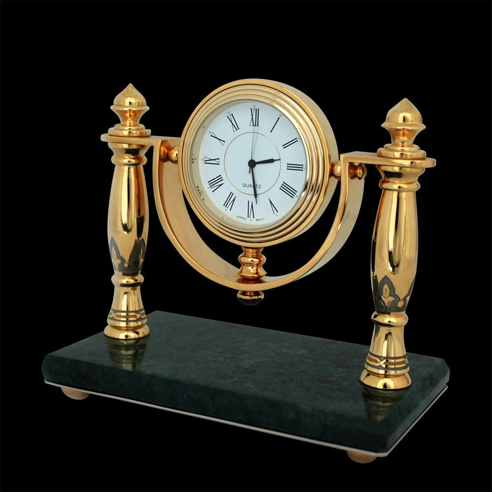 Classic handmade clock for home library
