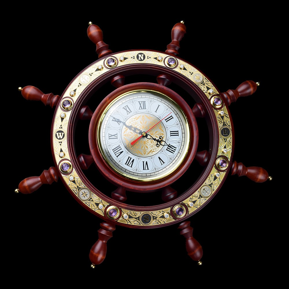 Gift clock for home or office to a person connected to the sea