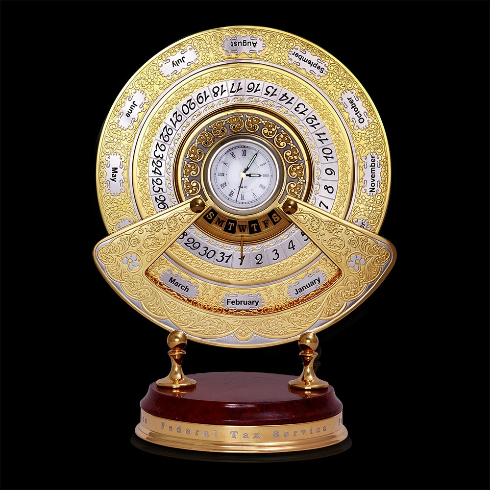 Office Desk Organizer - Perpetual Calendar of Gold in the UAE