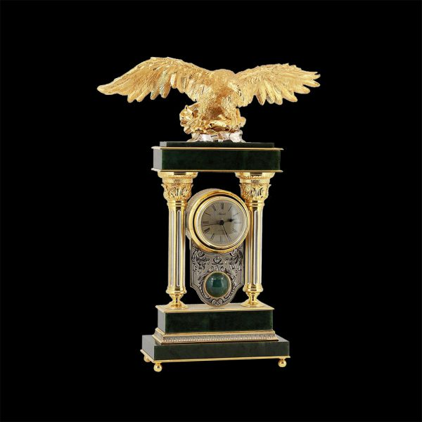 "To get a golden eagle on the table as a symbol of movement towards a goal is the desire of successful people. The eagle symbolizes immortality, courage, foresight and strength. Sometimes the eagle is called the ""king of the sky"" and the messenger of the gods."