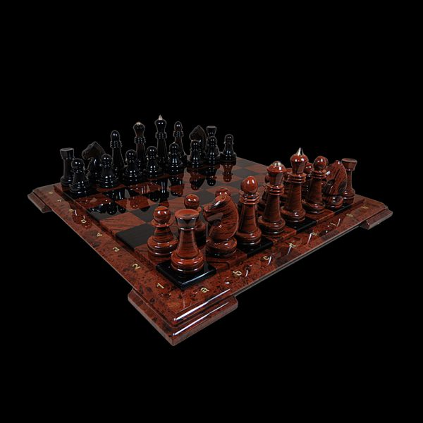 Table chess made of stone is an elegant interior accessory and a symbol of the owner's charisma. Fans of this inspiring and exciting entertainment will be able to enjoy by both the game process itself, and also the stylish chess design.