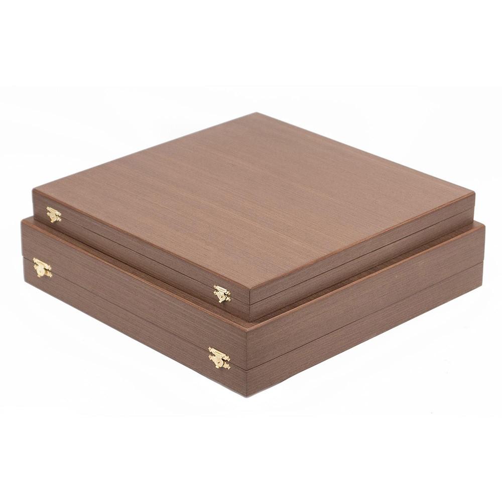Handmade wooden gift box for chess