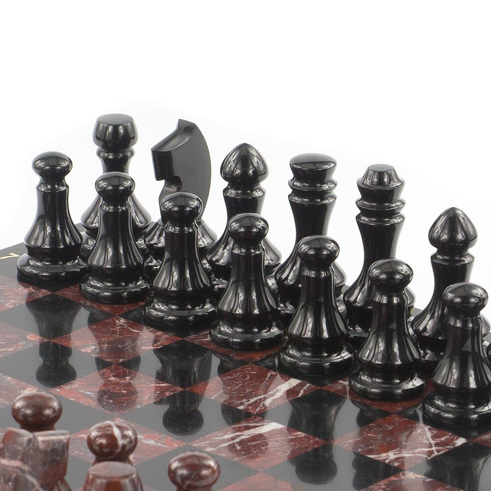Handmade chess will be a great gift for a fan of this ancient game. Chess from jasper will decorate your home or work interior and help you spend your time in a company of a dear person.
