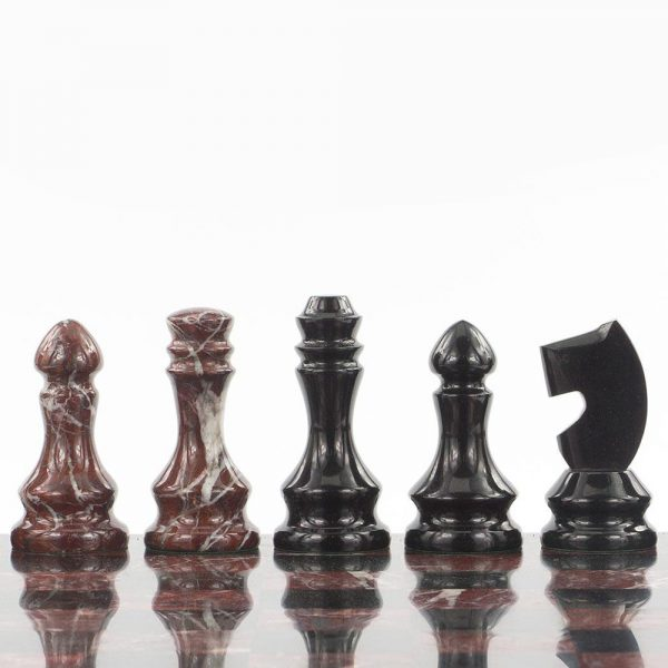 Handmade shiny chess pieces