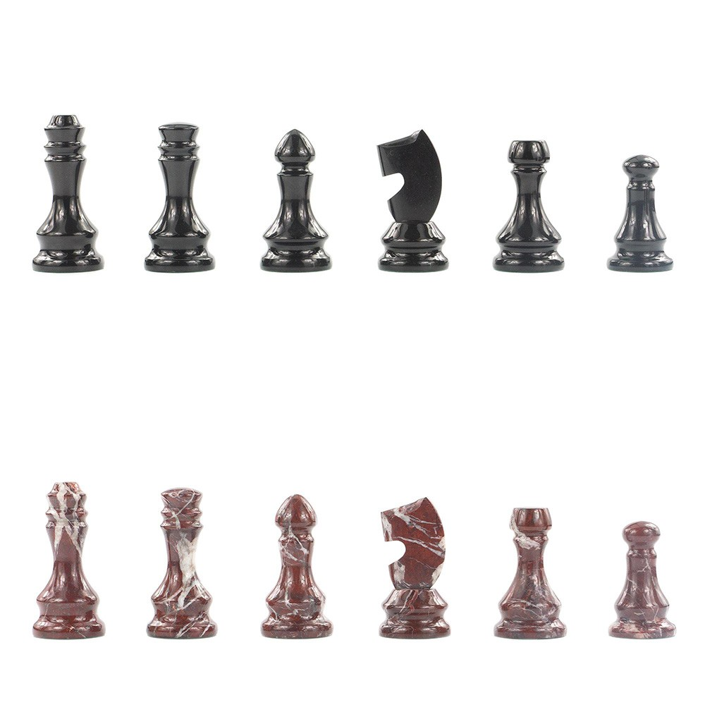 Collectible chess pieces made of natural stone. Carved work of Zlatoust masters.