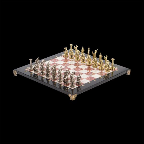 Stone chess with greek pieces. Chess is a great gift option for a business person
