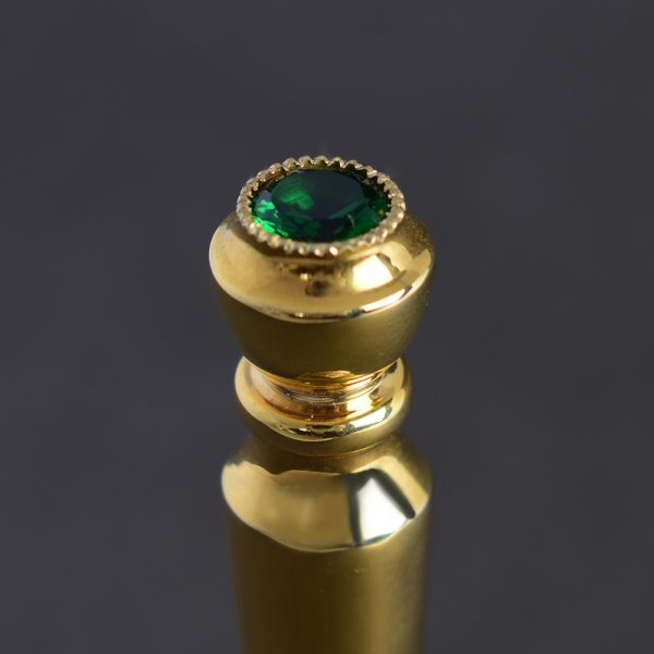 Jewel stone in a bell hilt
