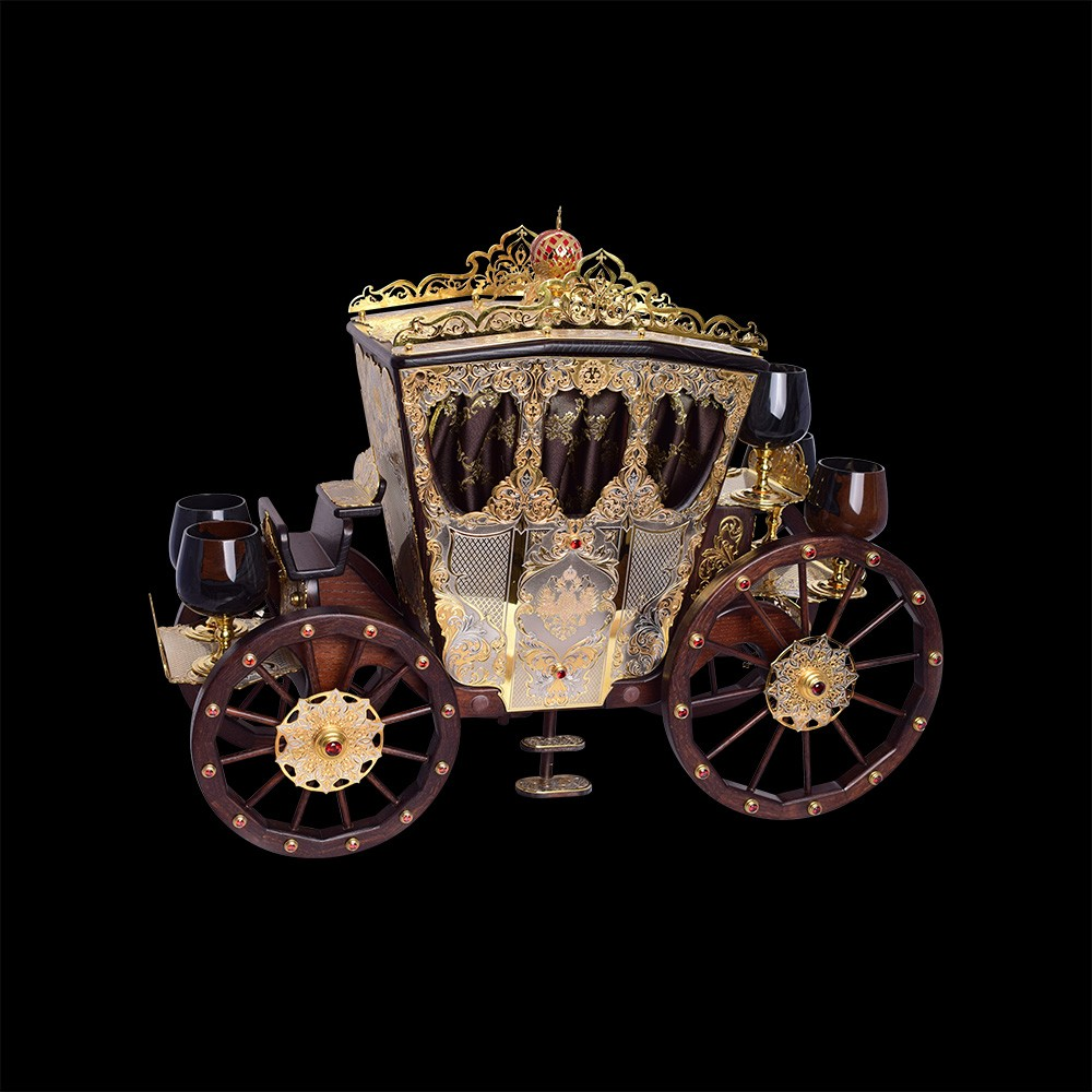 Handmade gift carriage. Luxurious gift.