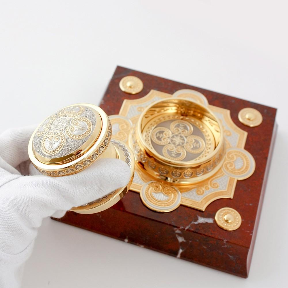 Presidential desk item - handmade gold stamp