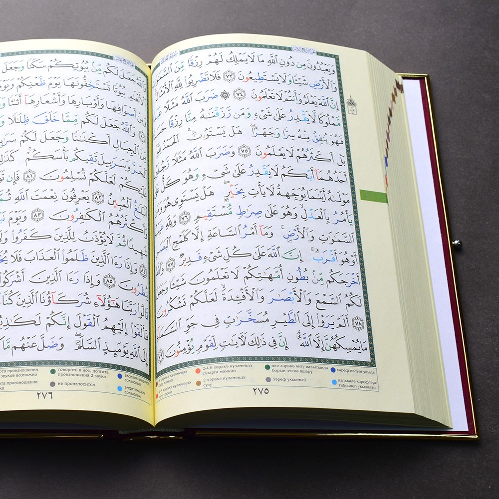 Quran in Arabic with explanations in Russian