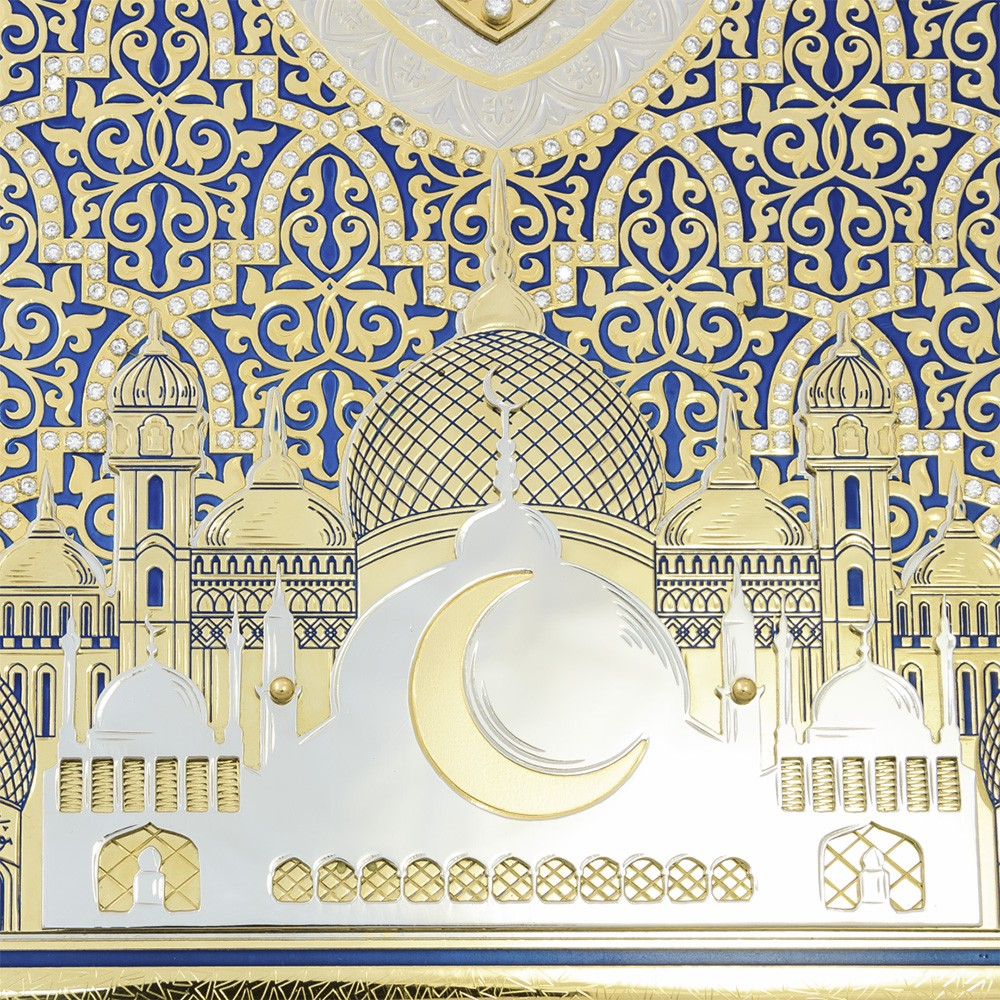 Luxurious Quran with the image of a mosque