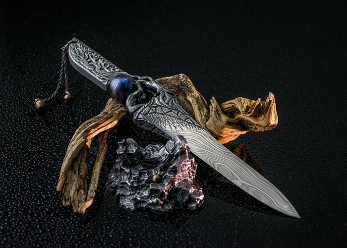 Exclusive knife sets made of noble materials. Luxury and Art
