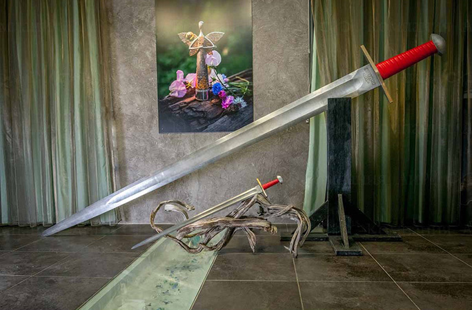 The largest sword in the world of Damascus steel