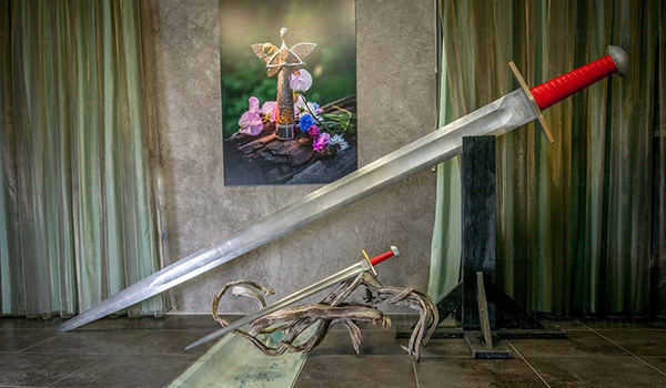 Damascus steel sword 3 m long 17 cm and weighing 33 kg is recognized as the largest in the world and is included in the Russian Book of Records.